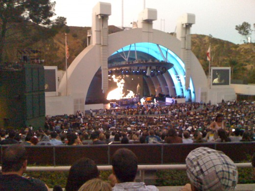 Outdoor concert venue the image kid has it for Hollywood bowl terrace 5