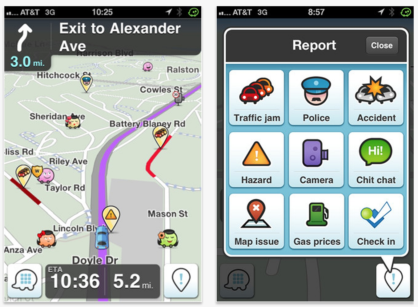If you aren't using the Waze app for your gps navigation, you're