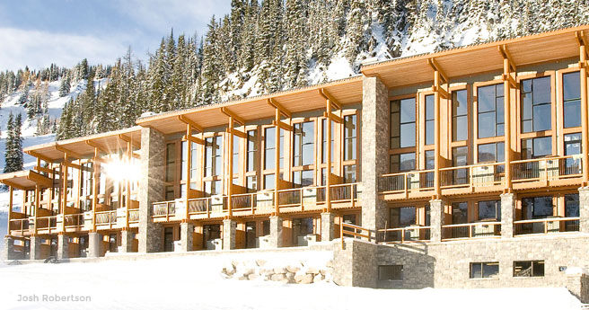 Sunshine mountain lodge archives home for Mountain lodge architecture